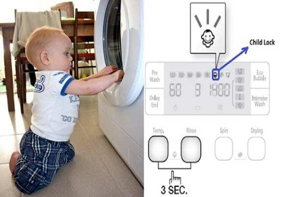 Tìm hiểu về chế độ khóa trẻ em trên máy giặt